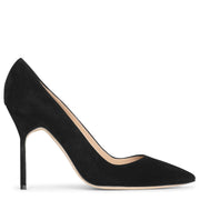 BB 105 black suede pumps