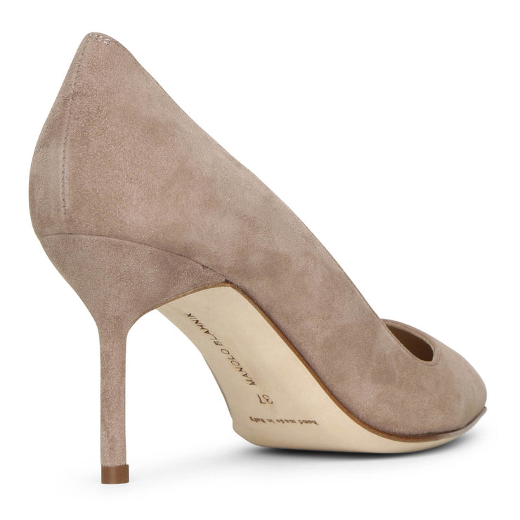 BB 70 dark nude suede pumps