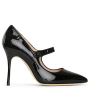 Camparinew 105 patent black pumps