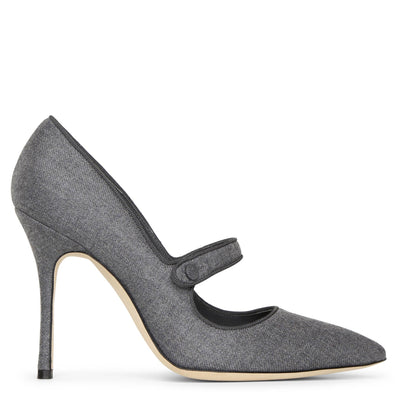 Camparinew 105 grey flannel pumps