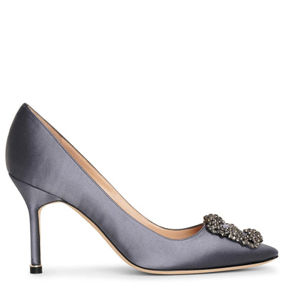 Hangisi 90 london grey satin pumps