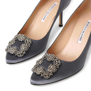 Hangisi 70 london grey satin pumps