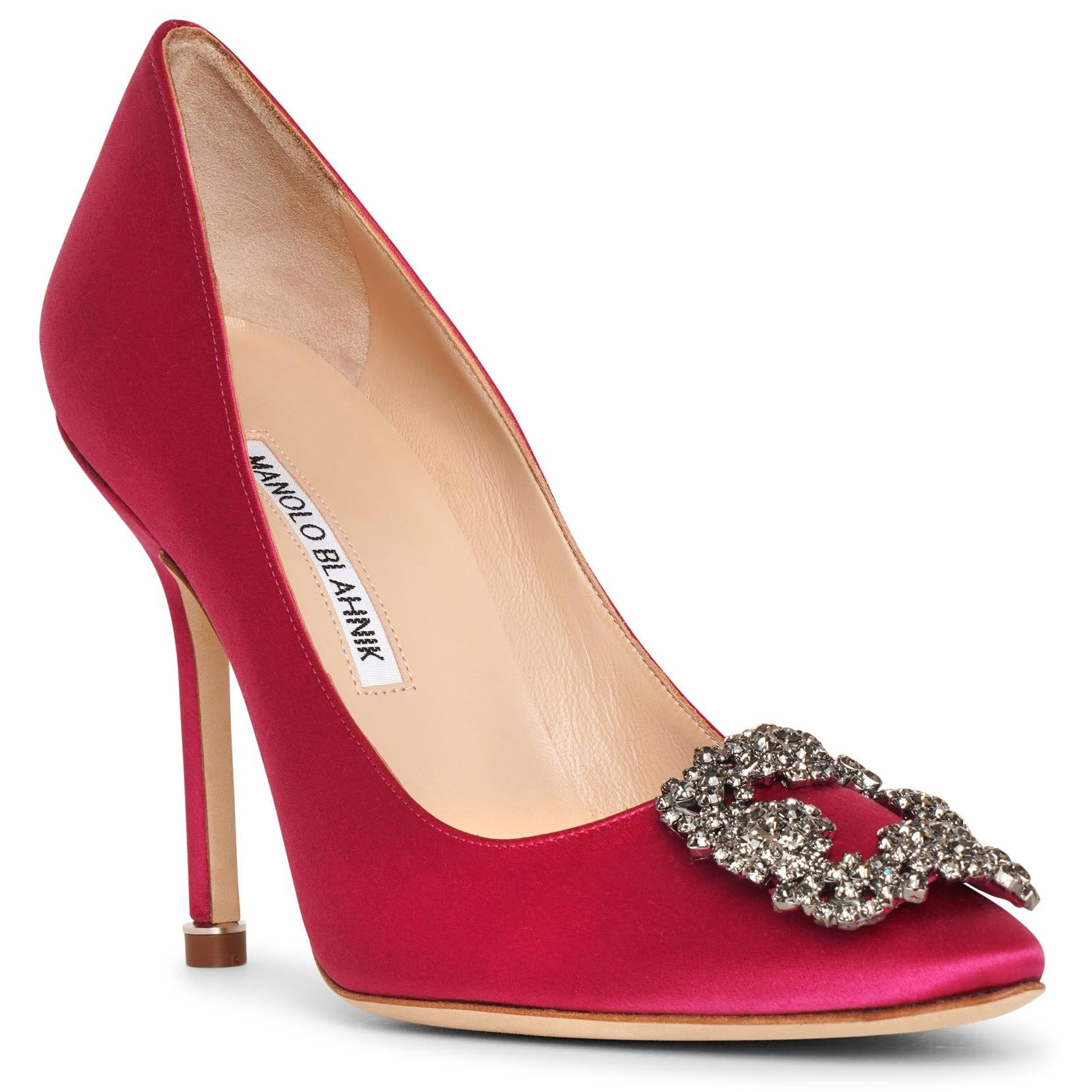 Hangisi 105 dark pink satin pumps