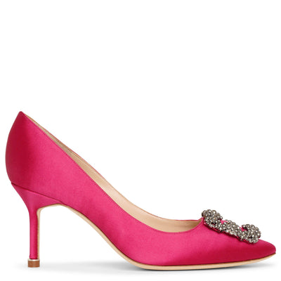 Hangisi 70 dark pink satin pumps