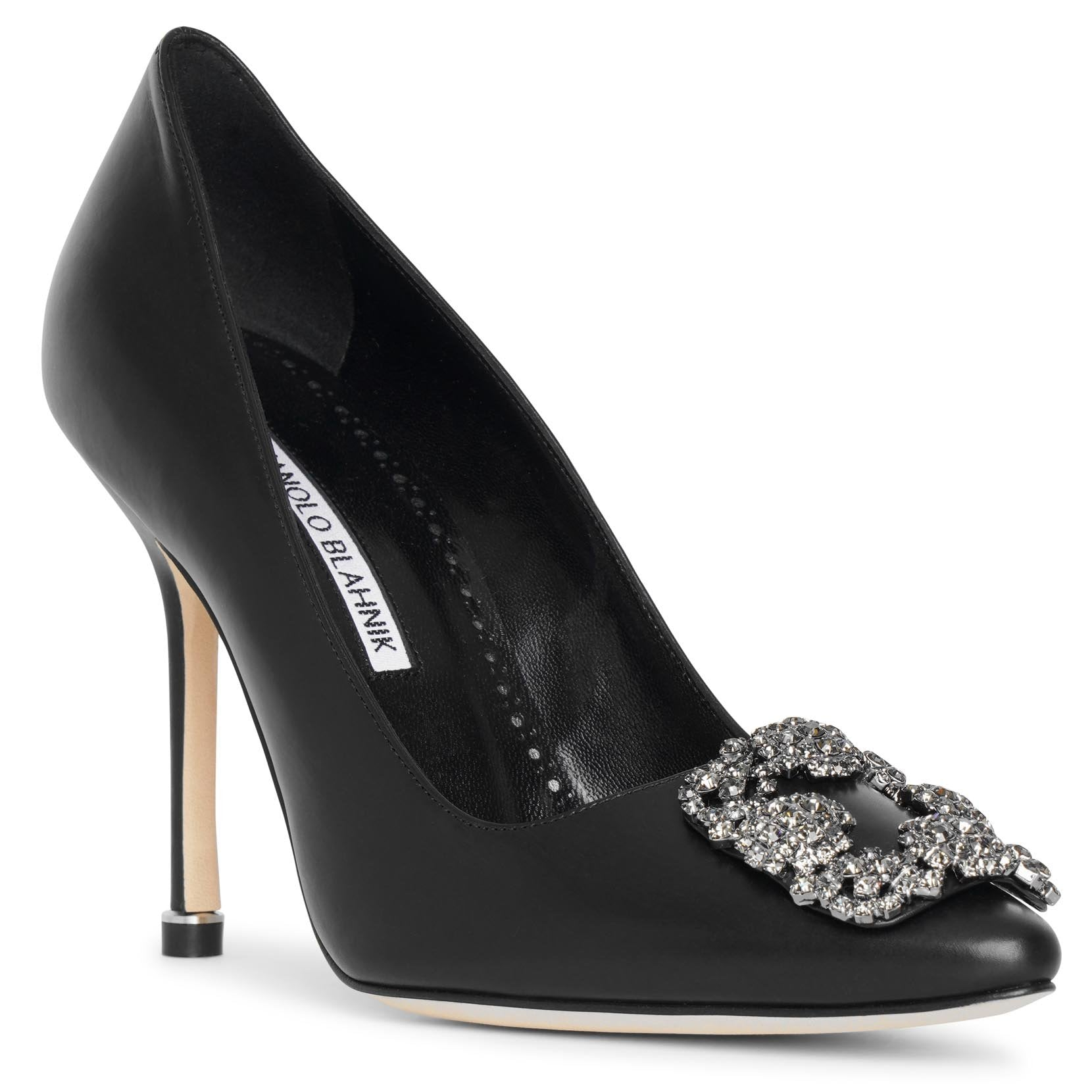Hangisi 105 black leather pumps