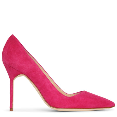 BB 105 dark pink suede pumps