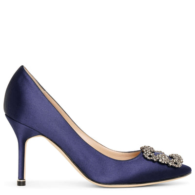 Hangisi 90 navy satin pumps