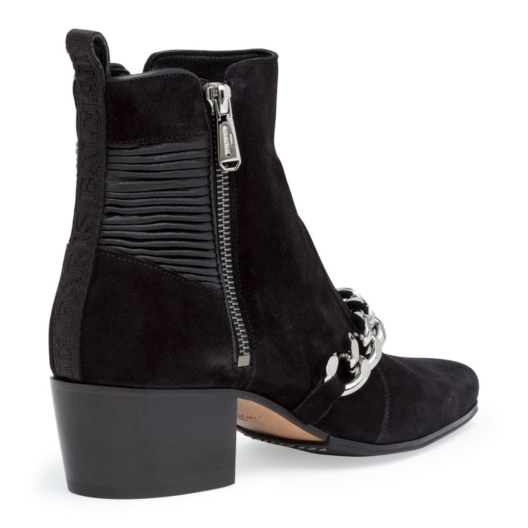Ella 50 black chain ankle boots