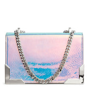 Bbox 20 silver leather shoulder bag