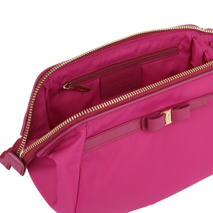 Raspberry Nylon Cosmetic Bag