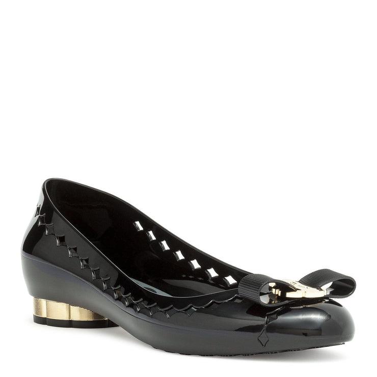 Jelly black rubber ballerinas