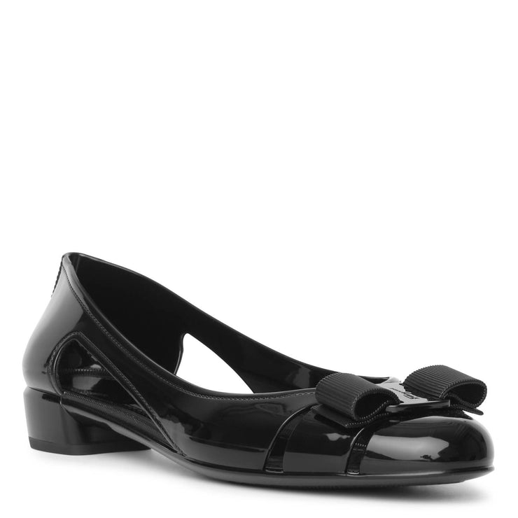 Vara Jelly black flats