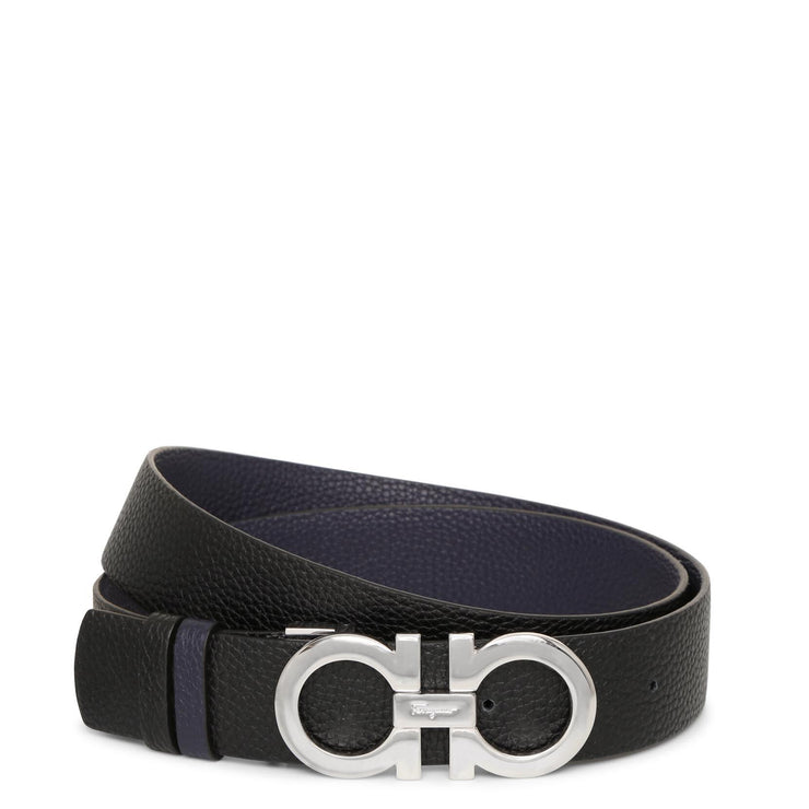 Reversable and adjustable blue Gancini belt