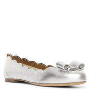 Varina shell metallic leather flats