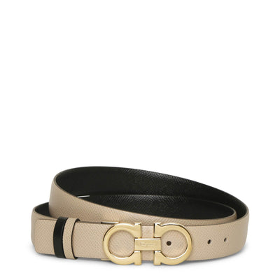 Gancini Reversable and Adjustable beige belt