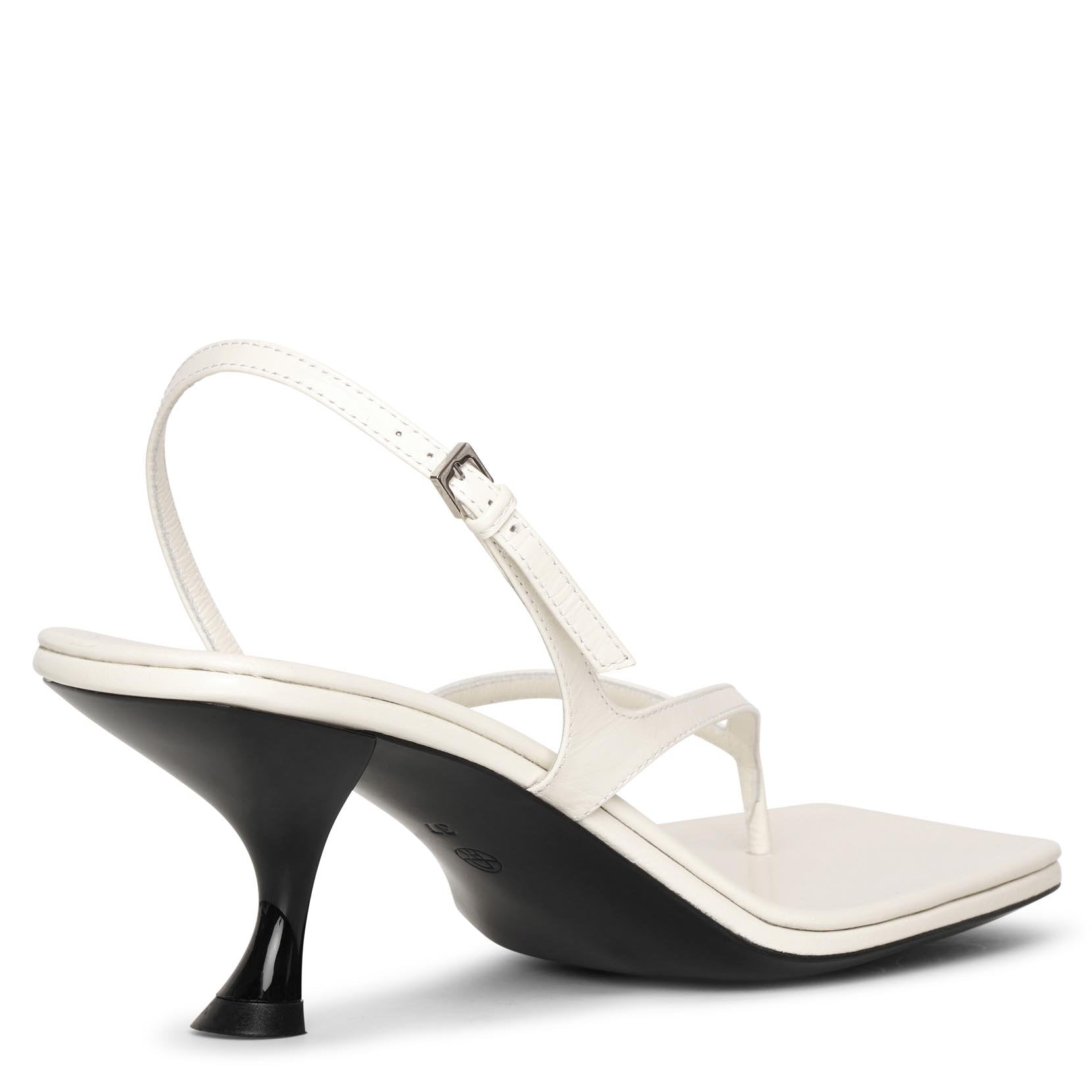Constance white leather sandals