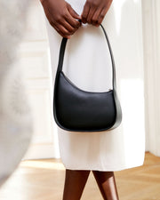 Half Moon leather shoulder bag