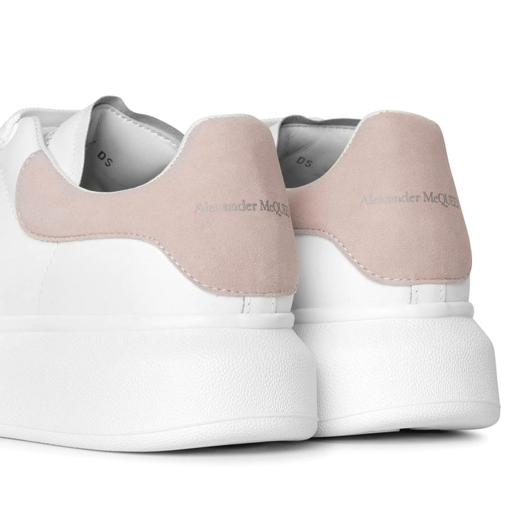 White and pink classic sneakers