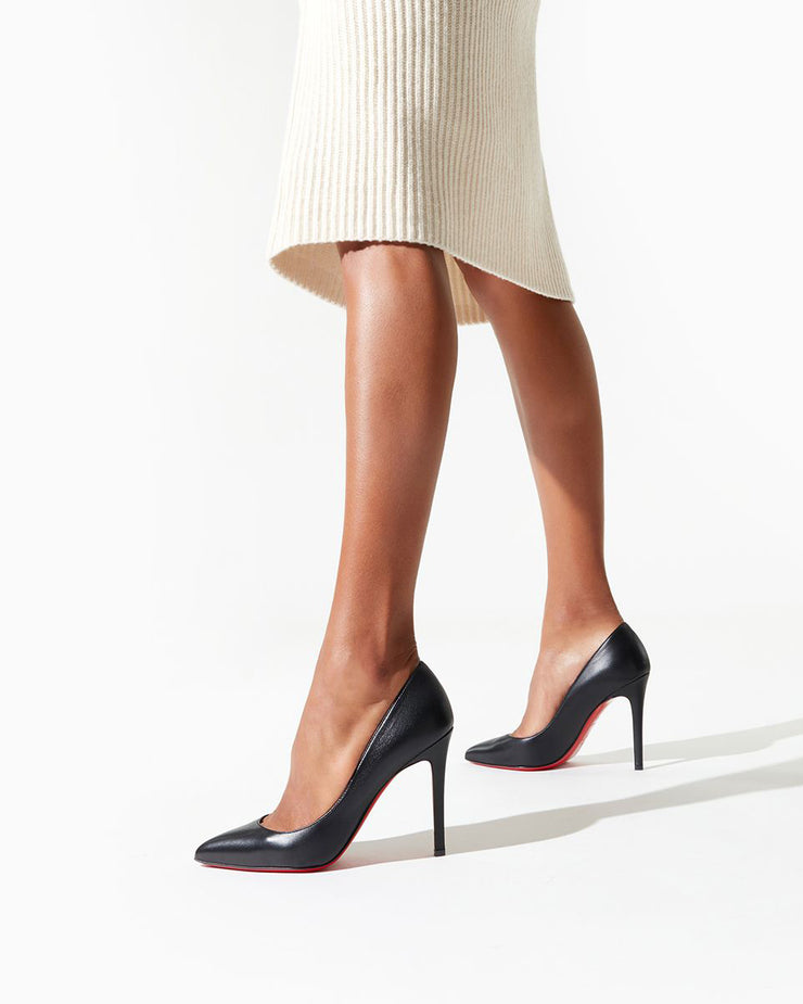 Pigalle 100 black leather pump