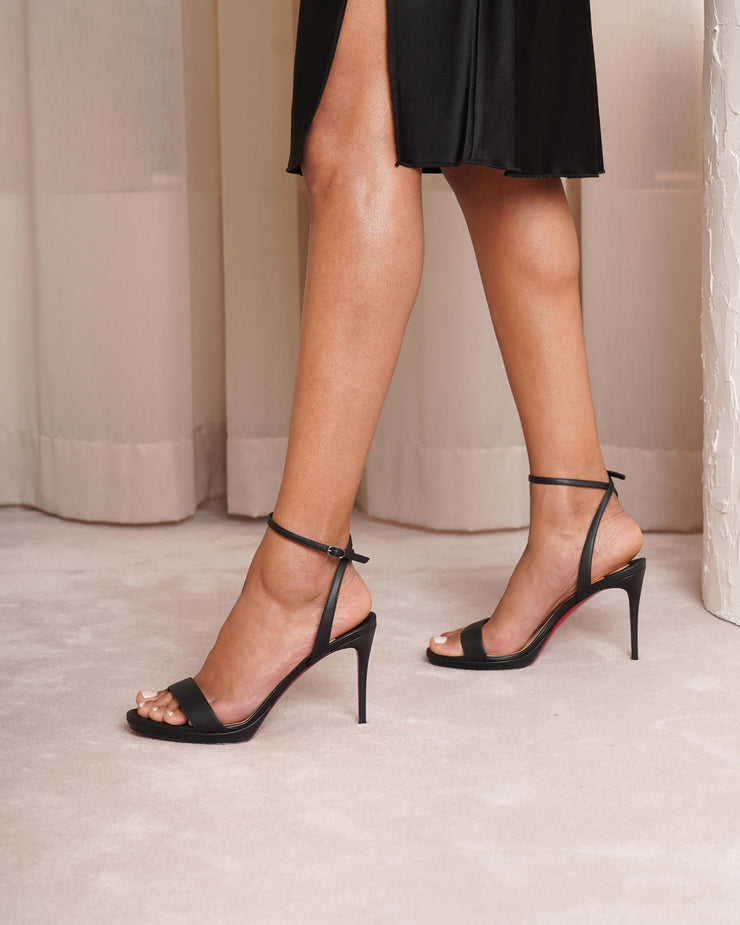 Loubi Queen 100 black sandals