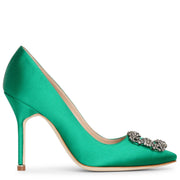 Hangisi 105 emerald satin pump