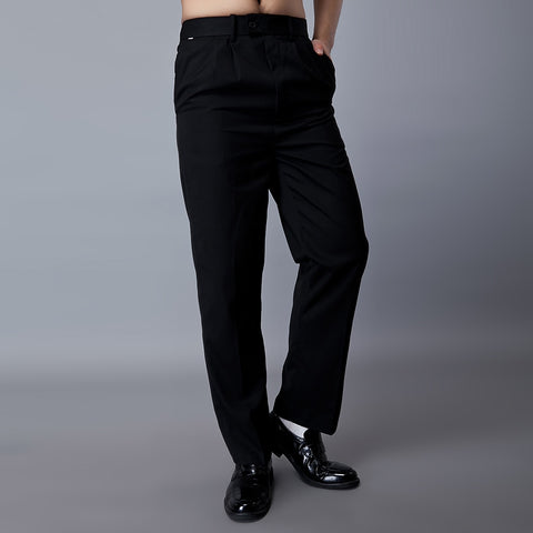 Mens Elastic Waist Bistro Pants (Black)