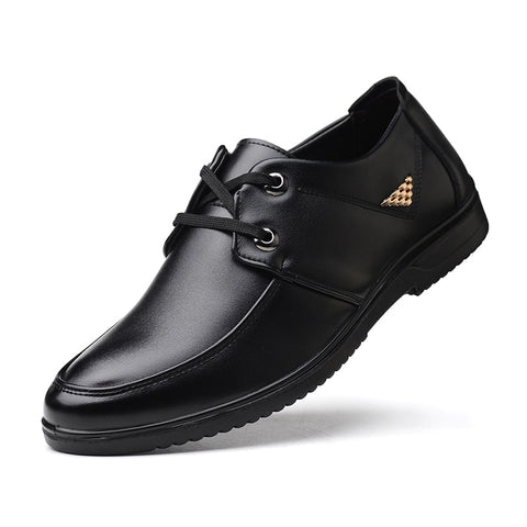Mens Non-slip Lace-Up Waterproof  Kitchen Shoes (Black)