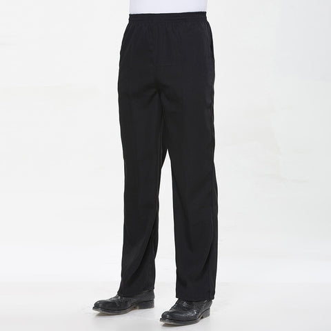 Unisex Relaxed Fit Chef Pants (Black)