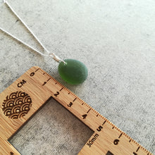 Load image into Gallery viewer, Moss Green - Sea Glass Necklace