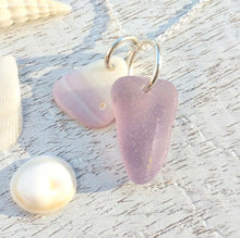 Load image into Gallery viewer, Lavender + Wampum - Sea Glass Necklace