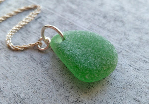 Kelly Green - Sea Glass Necklace