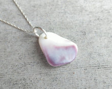 Load image into Gallery viewer, Shell Necklace || Seashell Jewelry || Sterling Silver Chain || Wampum Necklace