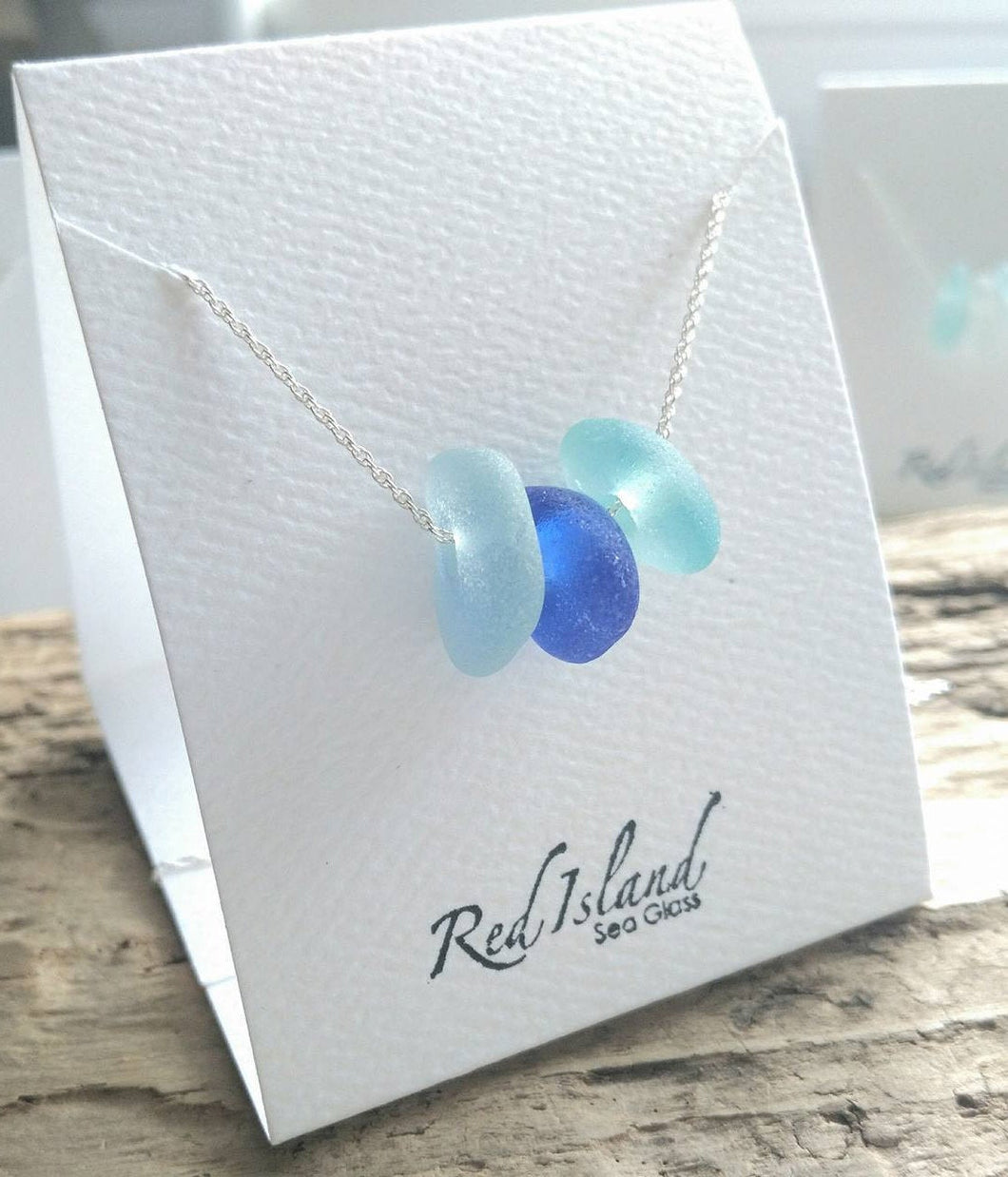 Ocean Blues - Sea Glass Necklace