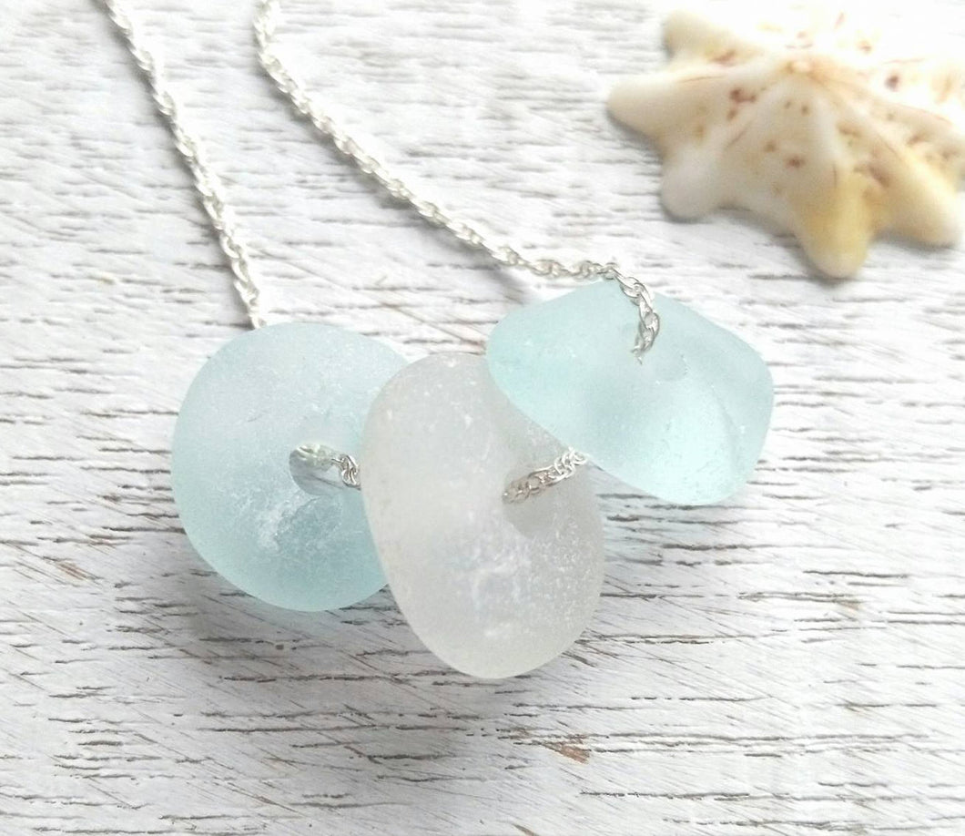 Blue Dream - Sea Glass Necklace