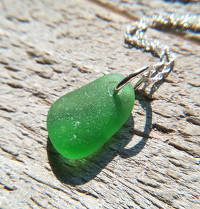 Palm Green - Sea Glass Necklace
