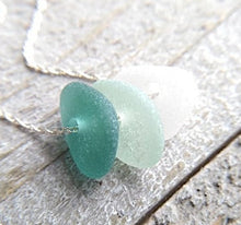 Load image into Gallery viewer, Lagoon - Sea Glass Necklace