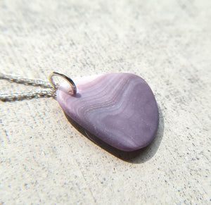 Dark Purple Wampum - Sea Shell Necklace