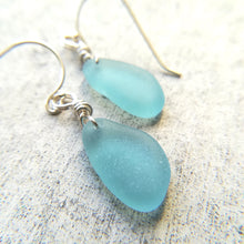 Load image into Gallery viewer, Aqua - Sea Glass Earrings