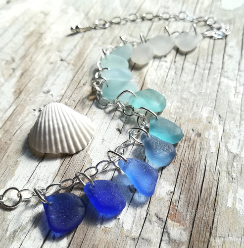 Ocean Ombré - Sea Glass Bracelet