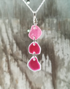 Pink Multi - Sea Glass Necklace