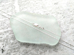 Blue Teals - Sea Glass Necklace