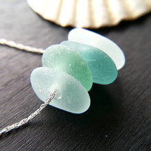 Load image into Gallery viewer, Ocean White Caps - Sea Glass Necklace