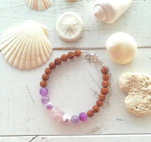 Lavender Sea Mala - Sea Glass Bracelet