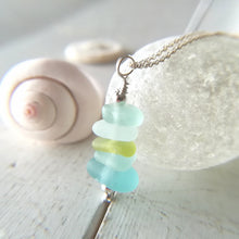 Load image into Gallery viewer, Tropical Stack - Sea Glass Necklace