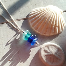 Load image into Gallery viewer, Oceanic Ombré Stack - Sea Glass Necklace