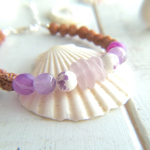 Load image into Gallery viewer, Lavender Sea Mala - Sea Glass Bracelet