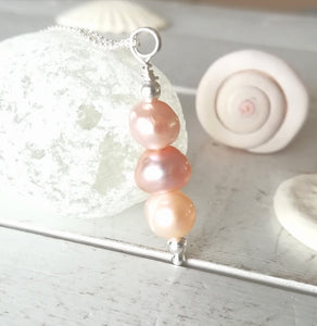 Pearl Stack - Sea Glass Necklace