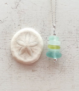 Tropical Stack - Sea Glass Necklace