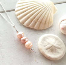 Load image into Gallery viewer, Pearl Stack - Sea Glass Necklace
