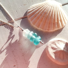 Load image into Gallery viewer, Teal Ombré - Sea Glass Necklace
